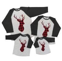 7 ate 9 Apparel Matching Family Christmas Shirts - Plaid Deer Grey Shirt