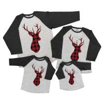 7 ate 9 Apparel Matching Family Christmas Shirts - Plaid Deer Grey Shirt