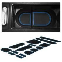 CupHolderHero Compatible with Subaru Impreza WRX STI Accessories 2008-2014 Premium Interior Non-Slip Anti Dust Cup Holder Inserts, Center Console Liner Mats, Door Pocket Liners 15-pc Set (Blue Trim)