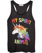 Shop Delfina My Spirit Animal Unicorn Magical Rainbow Funny Women's Tank Top