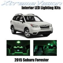 Xtremevision Interior LED for Subaru Forester 2015+ (8 Pieces) Green Interior LED Kit + Installation Tool