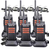 Retevis RT76 GMRS Two-Way Radio Long Range 30 CH Emergency Alarm High Power VOX 2 Way Radio Walkie Talkies with Earpieces for Adults(6 Pack)