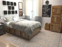 Unique Loom Paris Collection Pastel Tones Traditional Distressed Beige Square Rug (8' 0 x 8' 0)