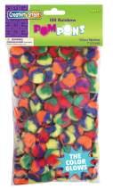 Creativity Street Pom Pons 100-Piece x 1 Inch, Rainbow