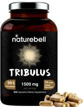 Tribulus Terrestris for Men and Women, (Made with Organic Tribulus with Active 60% Saponins), 1500mg Per Serving, 200 Capsules, Strongly Supports Stamina, Energy and Immune System, No GMOs