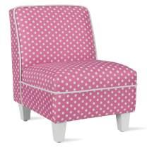 Baby Relax Lisette Kid Size Slipper, Pink Polka Dots Chair