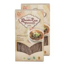 Tanisa ORGANIC Rice Vermicelli Noodles USDA Certified - gluten free (7 Oz/pack) (Vietnamese Bun) (ORGANIC Brown, 2 packs)
