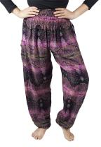 LOFBAZ Harem Hippie Pants for Women's Yoga Floral Boho Genie Aladdin Clothing