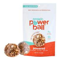 Protein Power Ball | On-the-Go Snacks | Gluten Free, Dairy Free, Soy Free Snack | High Protein Energy Bites (Dark Chocolate Peanut, 6 Pack)