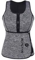 HOPLYNN Neoprene Sauna Sweat Vest, Waist Trainer Slimming Vest for Women Weight Loss with Adjustable Waist Shaper Belt