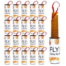20 Rolls Sticky Fly Ribbon Strips Indoor/Outdoor Fruit Fly Glue Traps