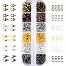 Mudder 6 Colors Lobster Claw Clasps and 6 Colors Open Jump Rings for Jewelry Making (12 mm, 5 mm)