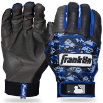 Franklin Sports MLB Digitek Batting Gloves – Youth Batting Glove – Tri-Curve Technology Fit – Custom-Sized Batting Gloves – Genuine Leather Heel Pad – Etched Microfiber Palm – Batting Gloves for Kids and Adults