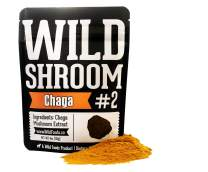 Chaga Mushroom Extract Powder by Wild Foods - 10:1 Triple Hot Water Extraction of Fruiting Body, Wild Harvested Nootropic Superfood (4 Ounce)