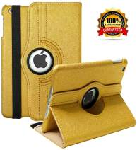 iPad Mini 1/2/3 Case - 360 Degree Rotating Stand Smart Cover Case with Auto Sleep/Wake Feature for Apple iPad Mini 1 / iPad Mini 2 / iPad Mini 3 … (Golden)