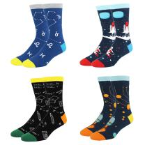 HAPPYPOP Novelty Math Space Science Pack Socks, Funny Sport School Gift Box for Men