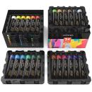ARTEZA Acrylic Paint, Set of 24 Colors/Tubes (22 ml/0.74 oz.) with Storage Box, Rich Pigments, Non Fading, Non Toxic Paints for Artist, Hobby Painters & Kids