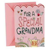 Hallmark Pop Up Mothers Day Card for Grandmother from Kids (3D Honeycomb Heart) (0699MBC7722)