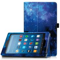 """Famavala Folio Case Cover Compatible with 8"""" Fire HD 8 Tablet [8th Generation 2018 / 7th Generation 2017 ] (BlueSky)"""