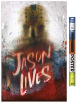 """Trends International Poster Clip Friday The 13th - Jason Lives, 22.375"""" x 34"""", Poster & Clip Bundle"""