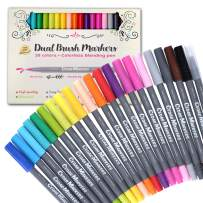 Cedar Markers Dual Tip Brush Pens. 21 Calligraphy Pen Set. Fine liner and Brush Tip Markers. Colored Pens, Art Pens for Adult Coloring Book and Bullet Journal. (21)
