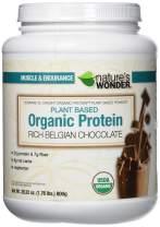 Nature's Wonder Organic Plant Based Protein Powder, Rich Belgian Chocolate, 1.764 Pound