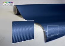 VViViD XPO Dry Navy Blue Carbon Fiber Vinyl Wrap Roll with Air Release Technology (10ft x 5ft)