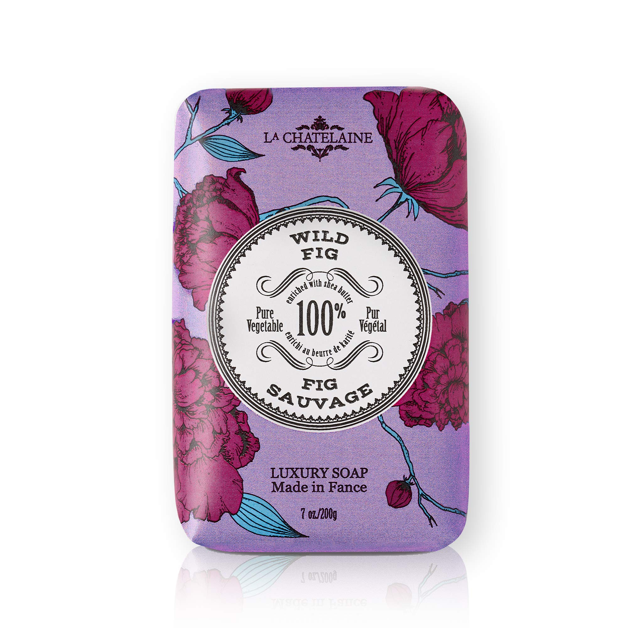 La Chatelaine Luxury Bar Soap   Natural Shea Formula (Wild Fig, 7 oz)
