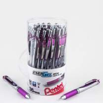 Pentel EnerGel RTX Retractable Liquid Gel Pen Canister, Violet Ink, 36pk (BL77PC36V)