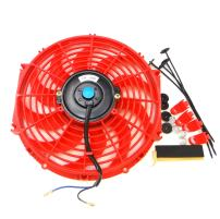 "Universal Slim Fan Push Pull Electric Radiator Cooling 12V 80W Mount Kit (12"", Red)"