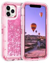 Coolden Case for iPhone 11 Pro Cases Protective Glitter Case for Women Girls Cute Bling Sparkle Heavy Duty Hard Shell Shockproof TPU Case for 2019 Release 5.8 Inches iPhone 11 Pro, Pink