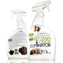 Life Miracle USA Natural Enzyme Cleaner - Safe, Non-Toxic Pet & Laundry Stain Remover, Odor Eliminator Neutralizer   Upholstery Carpet Cleaning & Rug Stain Cleaner   Dog & Cat Urine Smell. 32oz Spray