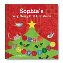 Baby's 1st Christmas, My First Christmas, Personalized Board Book for Babies Toddlers