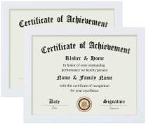 ELSKER&HOME 8.5×11 Certificate Frame - Classic White Color Frame - Document&Certificate - Displays Diploma 8.5×11 Inch - For Document/Photo(2 Pack)