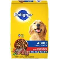 PEDIGREE Adult Complete Nutrition Grilled Steak & Vegetable Flavor Dry Dog Food 17 Pounds