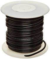 """UL1015 Commercial Copper Wire, Bright, Black, 20 AWG, 0.032"""" Diameter, 100' Length (Pack of 1)"""