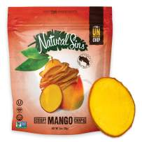Natural Sins Baked Mango Chips | 1 Ounce Bag (Pack of 6) | Vegan, Gluten-Free, Paleo, Crispy + Thin, Dried Fruit Snack Food