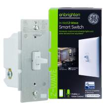 GE Enbrighten Z-Wave Plus Smart Light Switch, Works with Alexa, Google Assistant, 3-Way Compatible, ZWave Hub Required, Repeater/Range Extender, Toggle, 14292