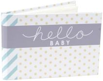 Malden International Designs Hello Baby Photo Album, 40-4x6, White
