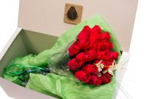 The Original Wooden Rose All Red Roses Floral Flower Bouquets in a Gift Box (2 Dozen) …