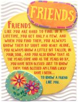 """Blue Mountain Arts Miniature Easel Print with Magnet """"Friends"""" 4.9 x 3.6 in., Sentimental Friendship Gift Perfect for Birthday, Christmas, """"Thinking of You,"""" """"Missing You,"""" or """"Just Because"""""""