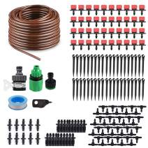 """KORAM 100ft 1/4"""" Blank Distribution Tubing Irrigation Gardener's Greenhouse Plant Cooling Suite Watering Drip Repair and Expansion Kit Accessories Include Universal Spigot Connector IR-2F"""