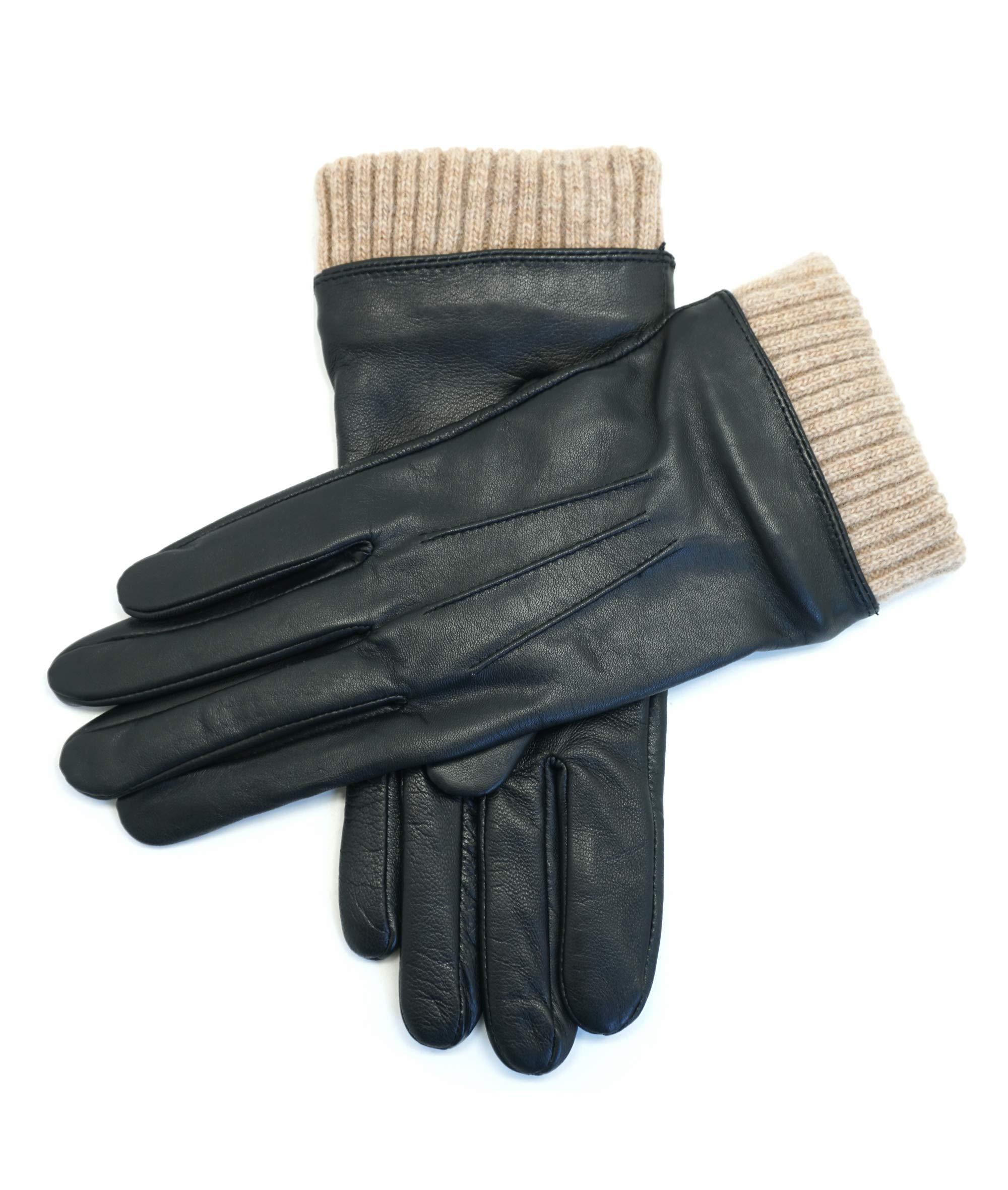 YISEVEN Womens Winter Sheepskin Leather Gloves Fleece Lined Wool Long Cuffs