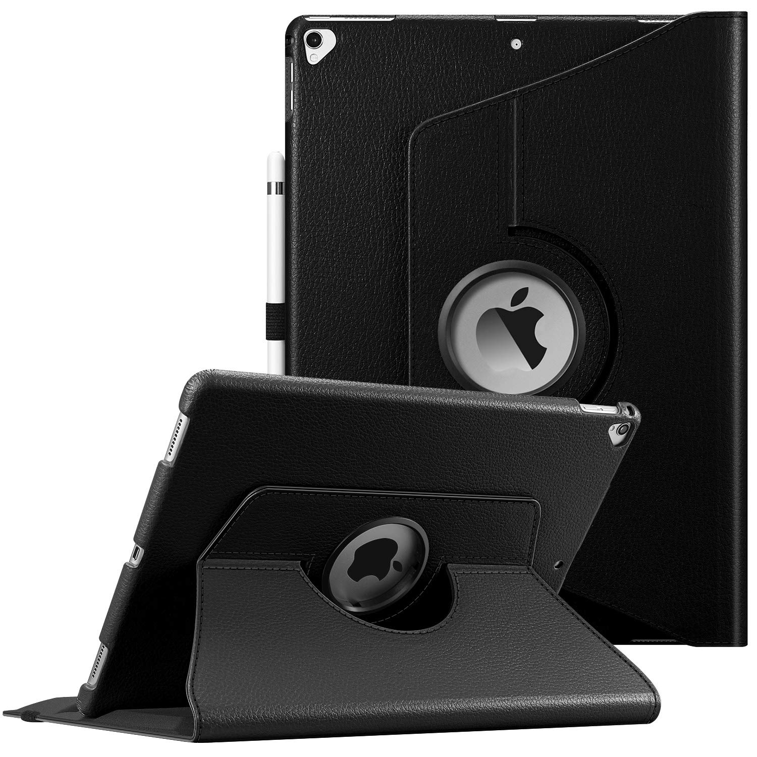 Fintie Rotating Case for iPad Pro 12.9 (2nd Gen) 2017 / iPad Pro 12.9 (1st Gen) 2015-360 Degree Rotating Stand Case with Smart Protective Cover Auto Sleep/Wake, Black