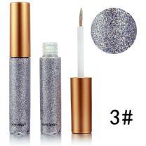 Glitter Liquid Eyeshadow & Eyeliner Set 10 Colors, Eye Art Lid, Long Lasting Waterproof Sparkling Eyeliner Eye Shadow(Silver,3#)