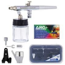 Master Performance S68 Multi-Purpose Precision Dual-Action Siphon Feed Airbrush, 0.35 mm Tip, 3/4 oz Fluid Bottle, Color Cup - User Friendly Set Kit - How-to-Airbrush Guide - Auto, Art, Hobby, Cake