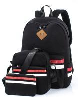 Leaper Cute Laptop Backpack School Bookbags Travel Bags Shoulder Bag Pencil Cases Black 3PCS