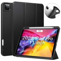 ZtotopCase for New iPad Pro 11 Case 2nd Generation 2020&2018 with Pencil Holder, Full Body Protective Rugged Shockproof + Trifold Stand + Auto Wake/Sleep Cover Support 2nd Gen Pencil Charging-Black