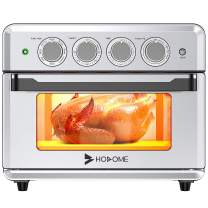 Hosome Toaster Oven, 60 Min Timer Air Fryer Toaster Oven Convection Toaster Oven,Countertop Toaster Oven with Air fryer/Roast/Pizza/Cookies/Keep Warm/Bake/Broil Compact Toaster Oven Cookbook Included,Stainless Steel Oven.1800 W