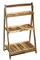 Classic Home and Garden 9/801/1 Acacia Wood Plant Stand, 1 Pack